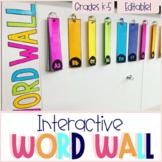 Editable Interactive Word Wall Display