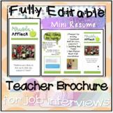 Editable Interview Brochure for Teachers