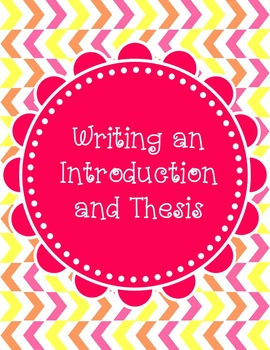Editable Introductory Paragraph and Thesis PowerPoint