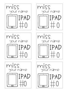 Editable Ipad Post It Labels