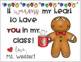 "Editable ""It Warms My Heart That You're In My Class"" Student Holiday Card"