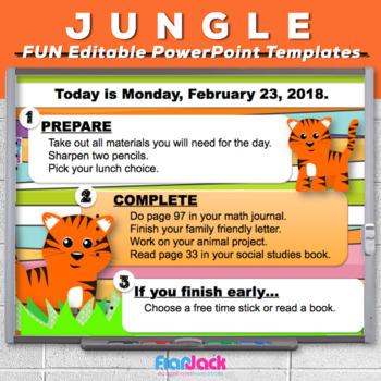 editable jungle safari powerpoint templates by flapjack educational