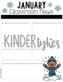Editable January Classroom Newsletter