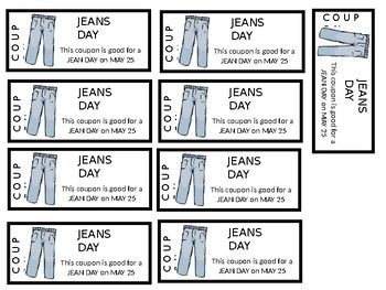 Editable Jean Day Coupons