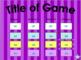 Editable Jeopardy Game