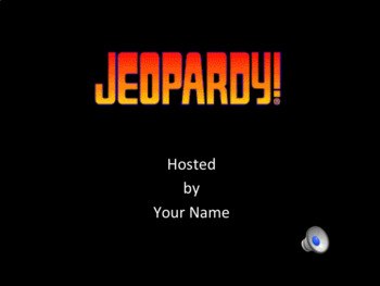 Editable Jeopardy Power Point Template