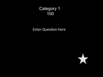 Editable Jeopardy Power Point Template