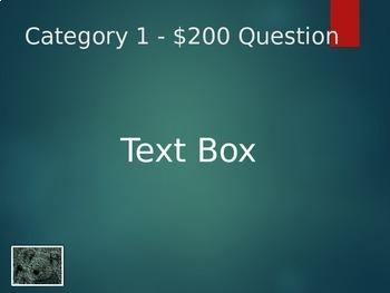 Editable Jeopardy Template