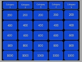 Editable Jeopardy Template for PowerPoint