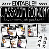 Editable Job Chart Posters With Student Number Cards (Or U