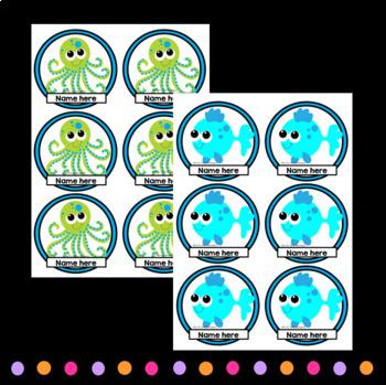 EDITABLE Job Chart Sea Animals
