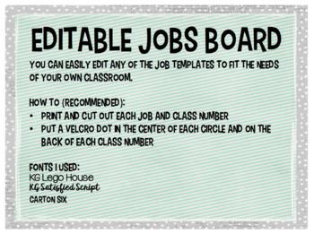 Editable Jobs Board