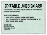 Editable Jobs Board