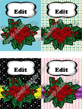 Editable Journal Covers: Rose Theme