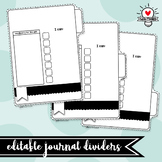 Editable Journal & Interactive Notebook Dividers! ALL subjects! ALL grades!