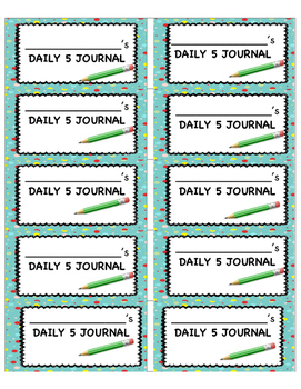 Editable Journal Labels