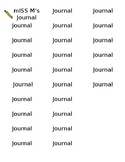 Editable Journal Labels