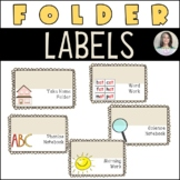Editable Labels for Journals, Folders and Notebooks
