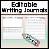 Editable Journal Template {8 Different Page Options & 4 Editable Journal Covers}