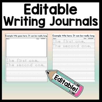 Editable Journal Template {8 Editable Journal Pages & 4 ...