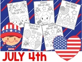 Editable July 4 Kids Patriotic Coloring Pages - The Crayon Crowd, Fourth of July