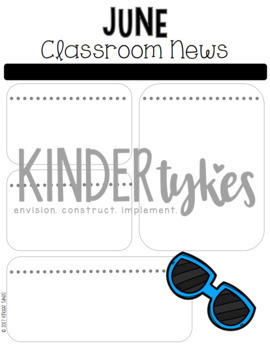 Editable June Classroom Newsletter
