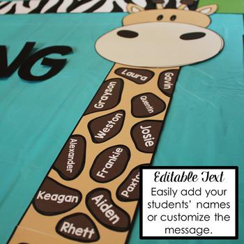 Editable Jungle / Safari Bulletin Board Display