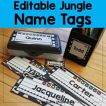 Editable Jungle / Safari Name Tags