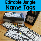 Editable Jungle / Safari Name Tags