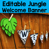 Editable Jungle / Safari Welcome Banner
