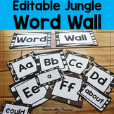 Editable Jungle / Safari Word Wall