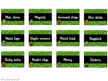 Editable Jungle Teacher Toolbox labels