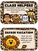 Editable Jungle Themed Job Chart