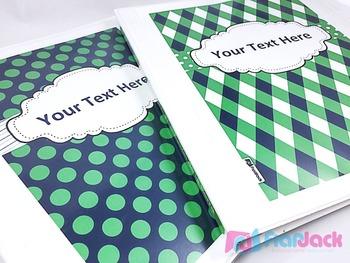 Editable Kelly Green Navy Color Scheme Class Decor Kit