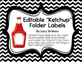 Editable Ketchup Folders!