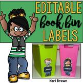 Editable Book Bin Labels: Kidlette Style