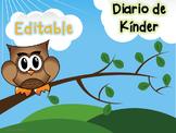 #lomejorde2016 Editable Kinder Journal Prompts in Spanish!