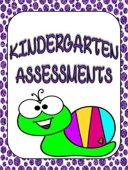 Editable Kindergarten Assessment Book and Report Card