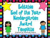 Editable Kindergarten Awards