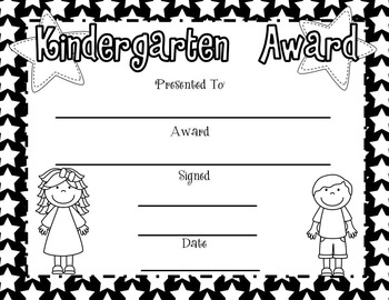 Editable Kindergarten Awards