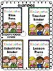 Editable Kindergarten Binder Covers