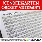 Kindergarten Assessments - Checklist Assessments