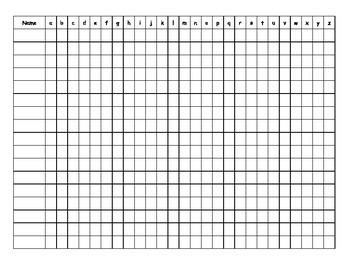 Editable Kindergarten Checksheet