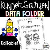 Editable Kindergarten Data Folder