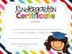 Editable Kindergarten Graduation Certificates