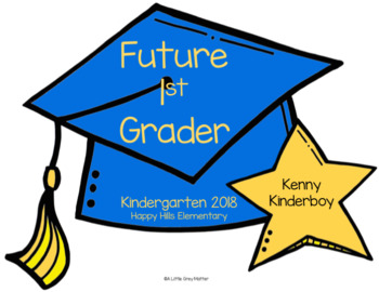 Editable Kindergarten Graduation Crowns