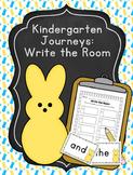 Editable Kindergarten Journeys Sight Words Write the Room Peeps Easter
