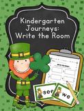 Editable Kindergarten Journeys Sight Words Write the Room St. Patrick's Day