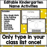 Editable Kindergarten Name Activities