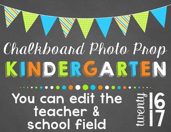 Editable Kindergarten Photo Props